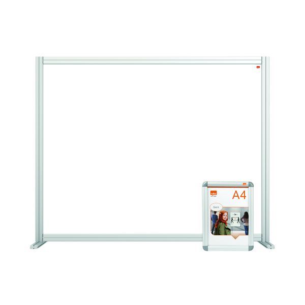 Desk Jemini Acrylic Modular Desk Divider 1200 x 1000mm Clear KF90373
