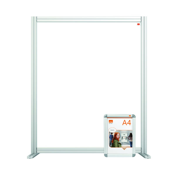 Desk Jemini Acrylic Modular Desk Divider 800 x 1000mm Clear KF90377