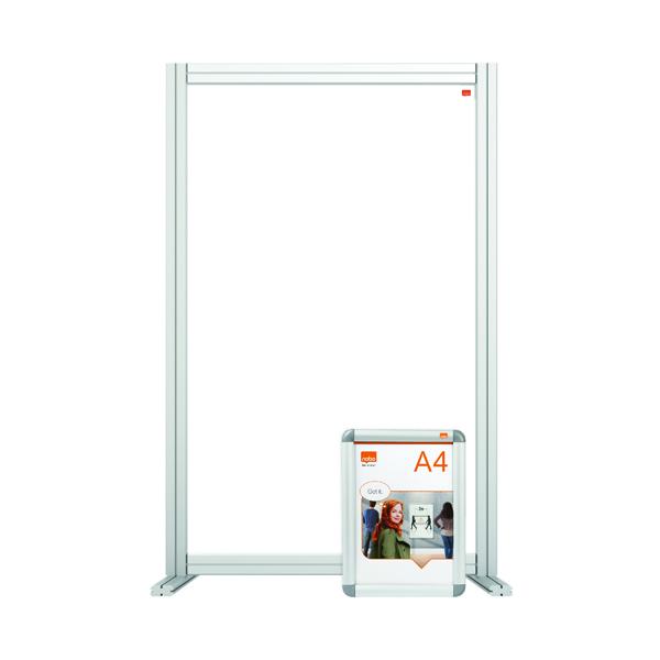 Desk Jemini Acrylic Modular Desk Divider 600 x 1000mm Clear KF90378