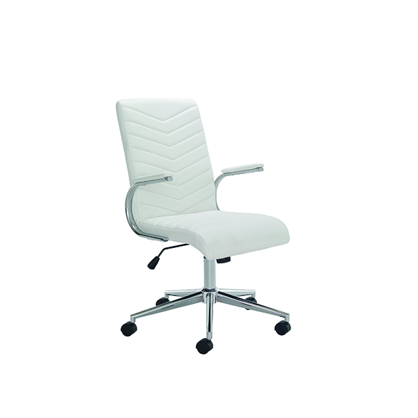 Other Arista Tarragona Leather Look Chair White CH0789WH
