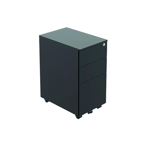 Unspecified Jemini Contract Steel Pedestal Slim Black TKUSSMP3BK