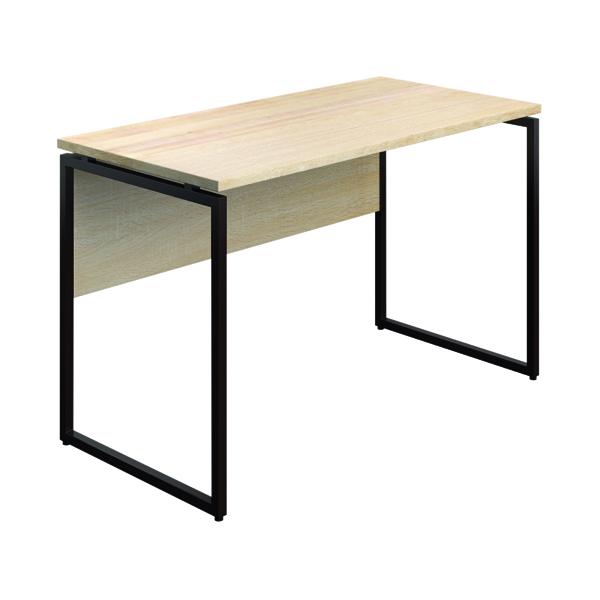 Other SOHO Computer Desk 1300mm Modesty Panel Oak/Brown Legs SOHODESK3