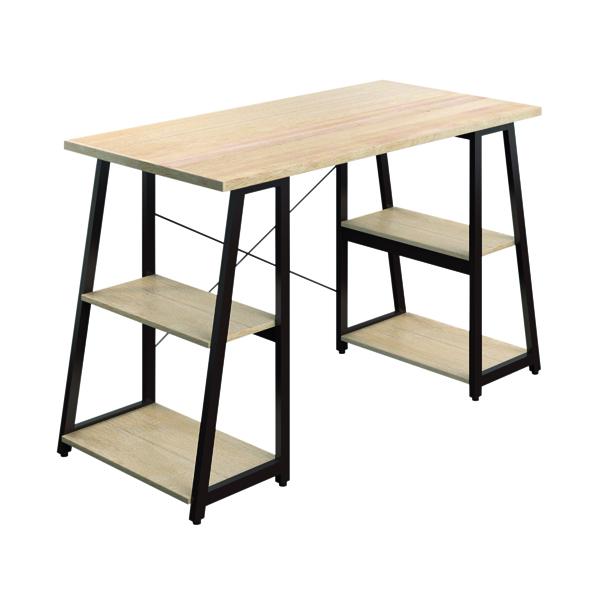 Other SOHO Computer Desk Oak 1300mm A-Frame Brown Leg Shelves SOHODESK5