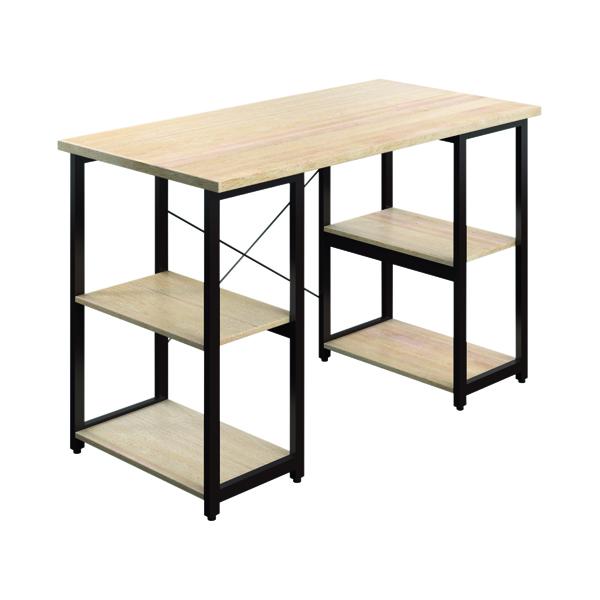 Other SOHO Computer Desk Oak W1300mm Square Leg Shelves Brown SOHODESK7