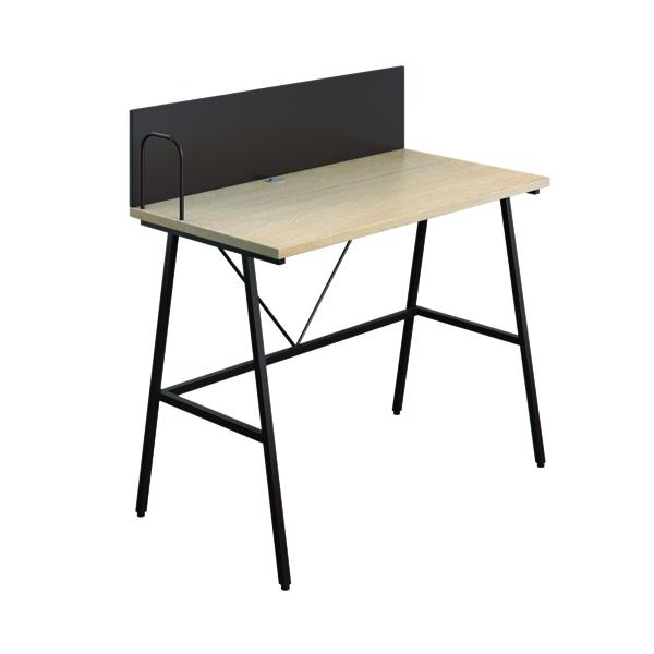 Other SOHO Computer Desk W1000mm with Backboard Oak/Brown Legs SOHODESK9
