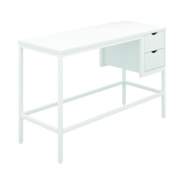 Other SOHO Computer Desk White W1200mm 2 Drawers White Legs SOHODESK1WH
