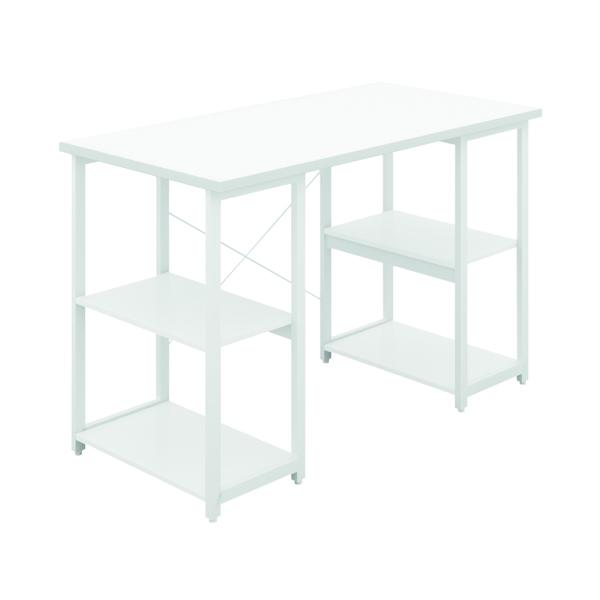 Other SOHO Computer Desk W1200mm with Shelves White/White Legs SOHODESK7WH