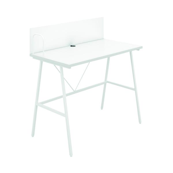 Other SOHO Computer Desk W1000mm with Backboard White/White Legs SOHODESK9WH