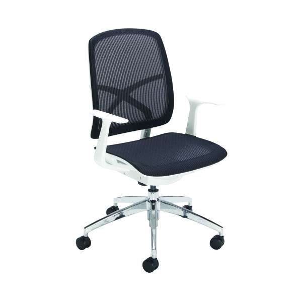 Unspecified First Soho Task Chair Black Mesh/White CH0799