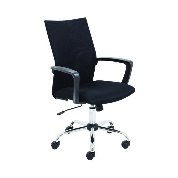 With Arms First One Task Mesh Chair With Arms Black CH3311BKS