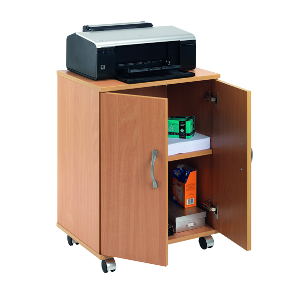 Mobile Serrion Beech Mobile PC Printer Stand KF97101