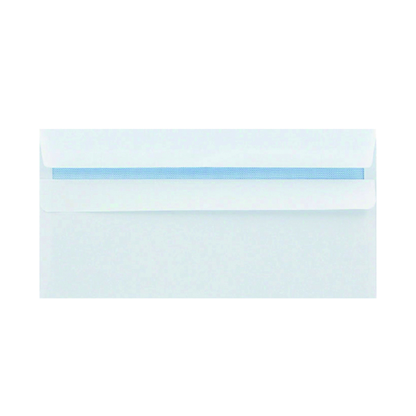 White Plain Q-Connect DL Envelopes Wallet Self Seal 120gsm White (1000 Pack) 81414