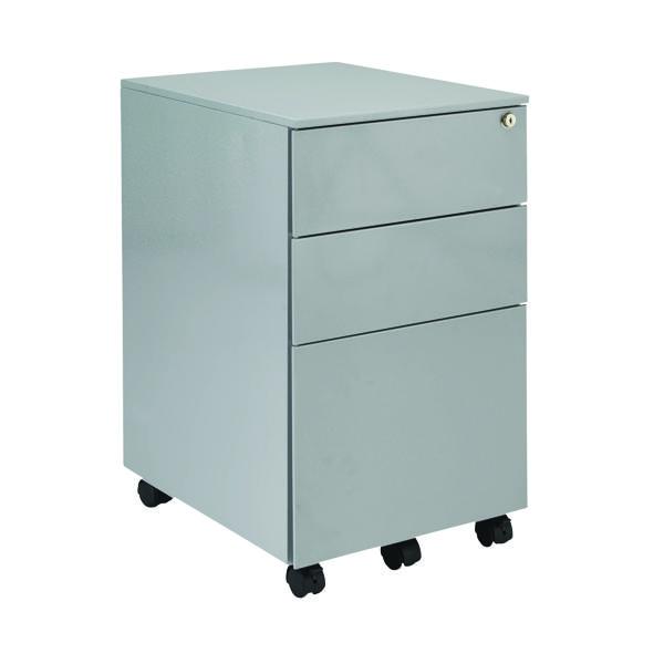 First Steel Under Desk Pedestal 3 Drawer Silver KF98513