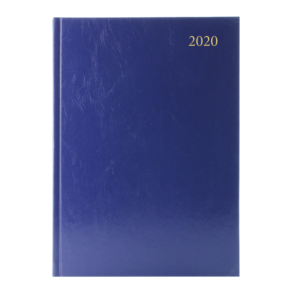 Day a Page Desk Diary A4 Day Per Page Appointments 2020 Blue KFA41ABU20