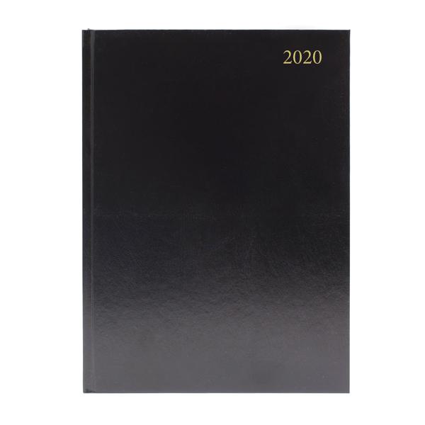 Desk Diary A4 Day Per Page 2020 Black KFA41BK20