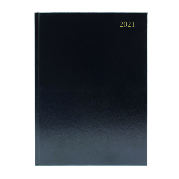 Day a Page Desk Diary Day Per Page Appointments A5 Black 2021 KFA51ABK21