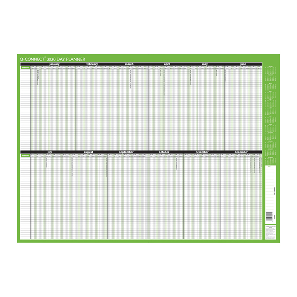 Q-Connect Day Planner Mounted 855 x 610mm 2020 KFDPM20