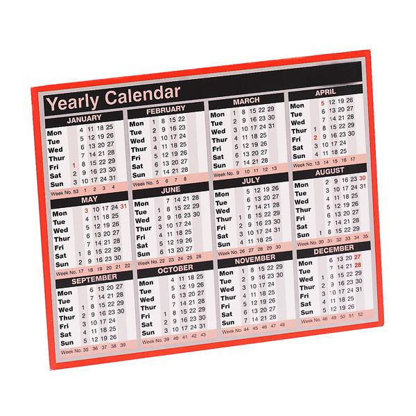 Calendars Year To View Calendar 257 x 210mm 2021 KFYC121