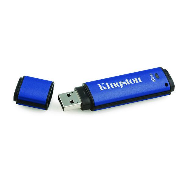 Kingston DataTraveler Encrypted 8GB Flash Drive DTVP30/8GB