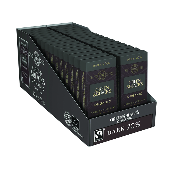 Green & Black's 35g Dark Chocolate (30 Pack) 611635