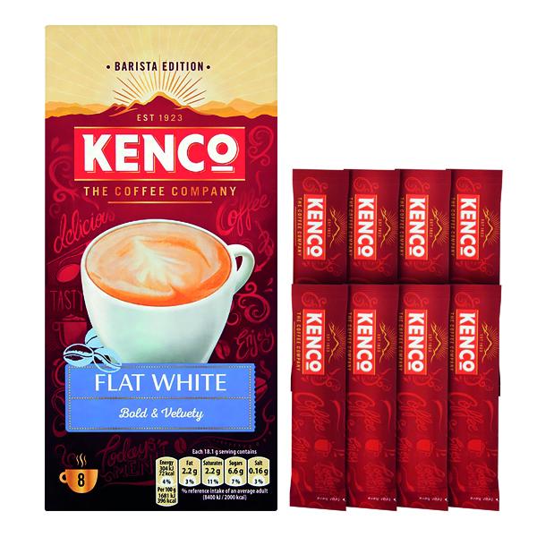 Kenco Flat White Instant Sachet (8 Pack) 4041493