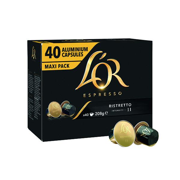 L'Or Nespresso Ristretto Capsule (40 Pack) 4028790