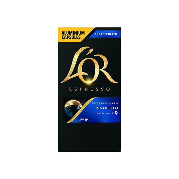 L'Or Nespresso Decaff Ristretto Capsule (10 Pack) 4028615