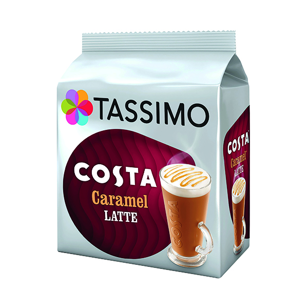Tassimo Costa Caramel Latte Coffee Pods (40 Pack) 4031637