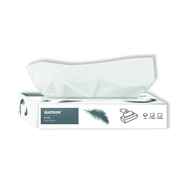 Katrin Plus Facial Tissues 2-Ply 100 Sheets (40 Pack) 11797