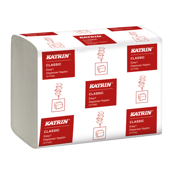Katrin Classic EASY1 Napkin 2-Ply White 280 Sheet (42 Pack) 27569