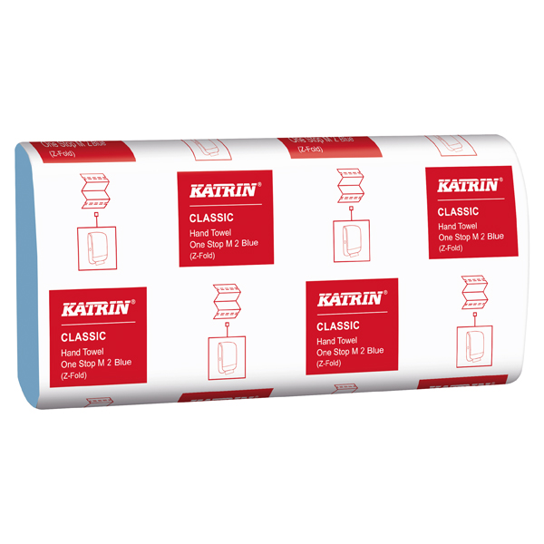 Hand Towels & Dispensers Katrin Classic Hand Towel One Stop M2 Blue 144 Sheets (21 Pack) 38107
