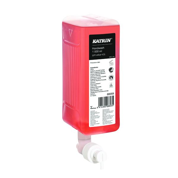 Hand Soaps & Dispensers Katrin Liquid Hand Wash Soap 1000ml (6 Pack) 47420