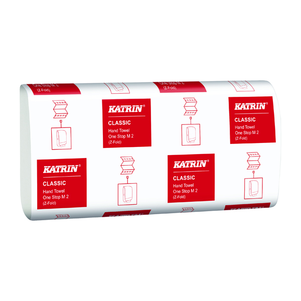 Hand Towels & Dispensers Katrin Classic One Stop Hand Towels 2-Ply White (3360 Pack) 345287