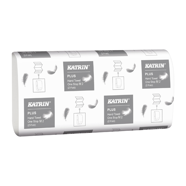 Hand Towels & Dispensers Katrin Plus Hand Towel One Stop M2 White 144 Sheets (21 Pack) 345379