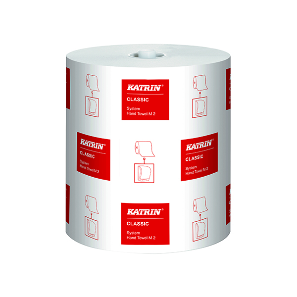 Katrin Classic System Hand Towel M2 2-Ply White (6 Pack) 460102