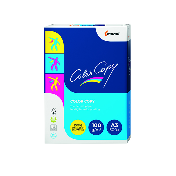 White 100gsm Color Copy A3 White Paper 100gsm CCW1024 (500 Pack) SNCC230100