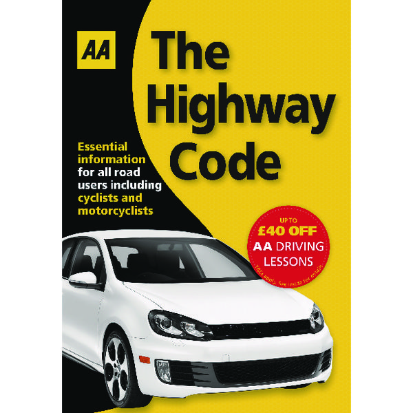 Unspecified AA The Highway Code Book (AA Driving Test) 9780749552572