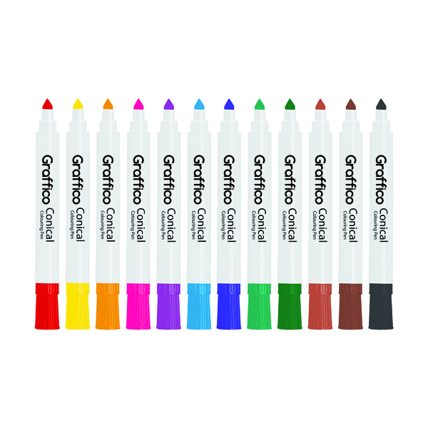Graffico Conical Marker Assorted (144 Pack) 6152/144