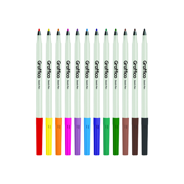 Graffico Slim Colouring Pen Assorted (576 Pack) 6101/576