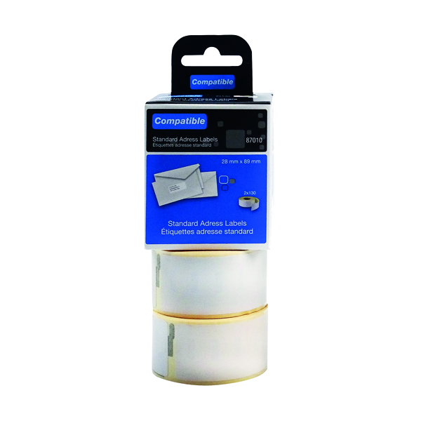 Labelling Tapes & Labels Compatible DYMO Standard Address Label 28 x 89mm (260 Pack) LL87010