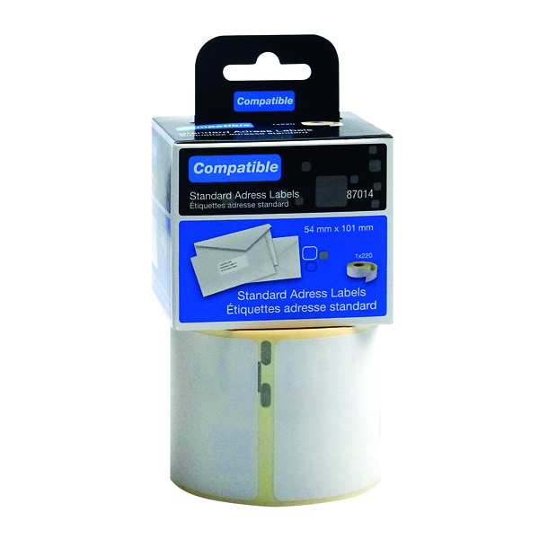 Labelling Tapes & Labels Compatible DYMO Shipping Label 54 x 101mm (220 Pack) LL87014