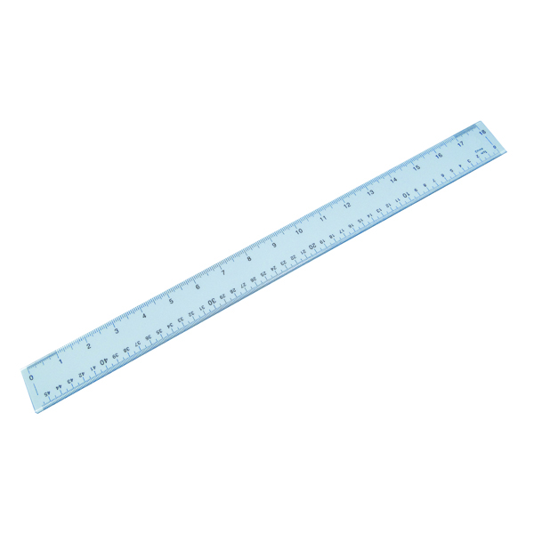 16-30cm Plastic Shatter Resistant Ruler 50cm Clear 843800/1