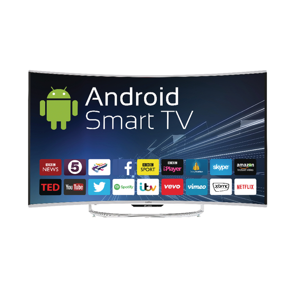 TV 55 inch Android Smart Free view T2 HD LED TV With Wi-Fi C55ANSMT