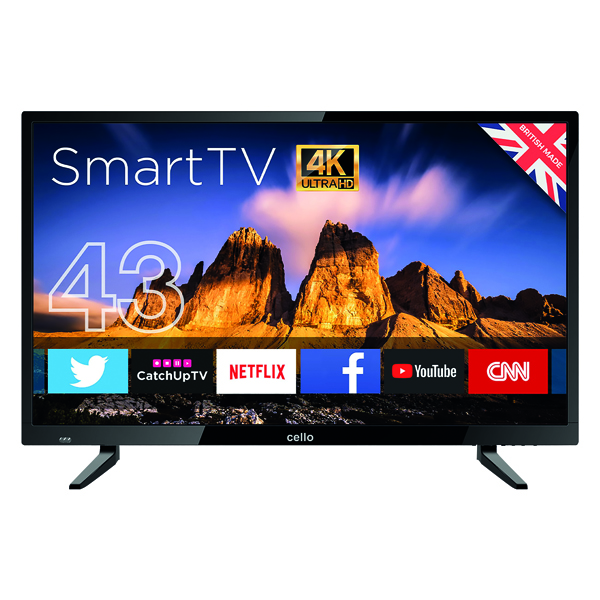 Combinations Cello 43in 4K Smart Ultra HD LED TV C43RTS4K