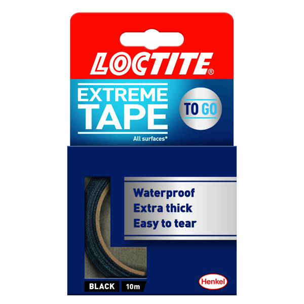 50mm Loctite Extreme Tape 24mm x 10m Black 2505718