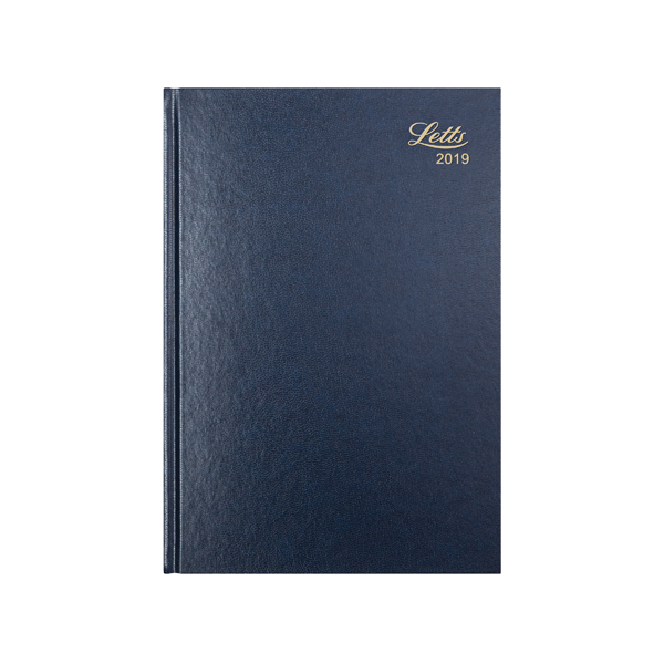 Diaries Letts Business Diary A4 Week to View 2019 Blue 19-T31ZBL