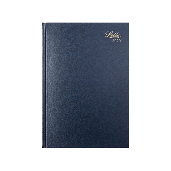 Letts Business Diary A4 Week to View 2020 Blue 20-T31ZBL