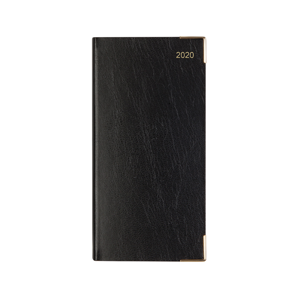 Letts Business Diary Slim Week to View Landscape 2020 Black 20-T35SBK