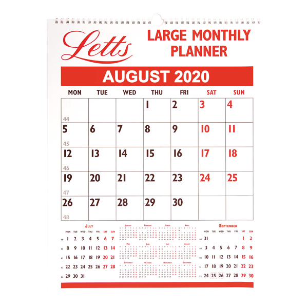 Calendars Letts Large Monthly Planner 2020 20-TLMP