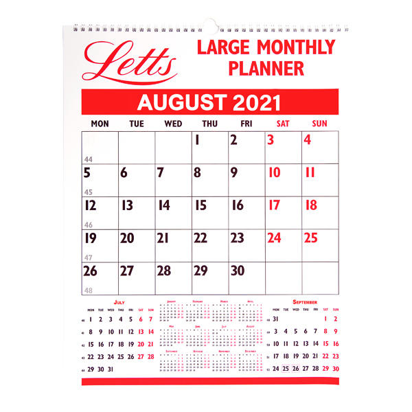 Monthly Letts Monthly Planner Large 2021 21-TLMP